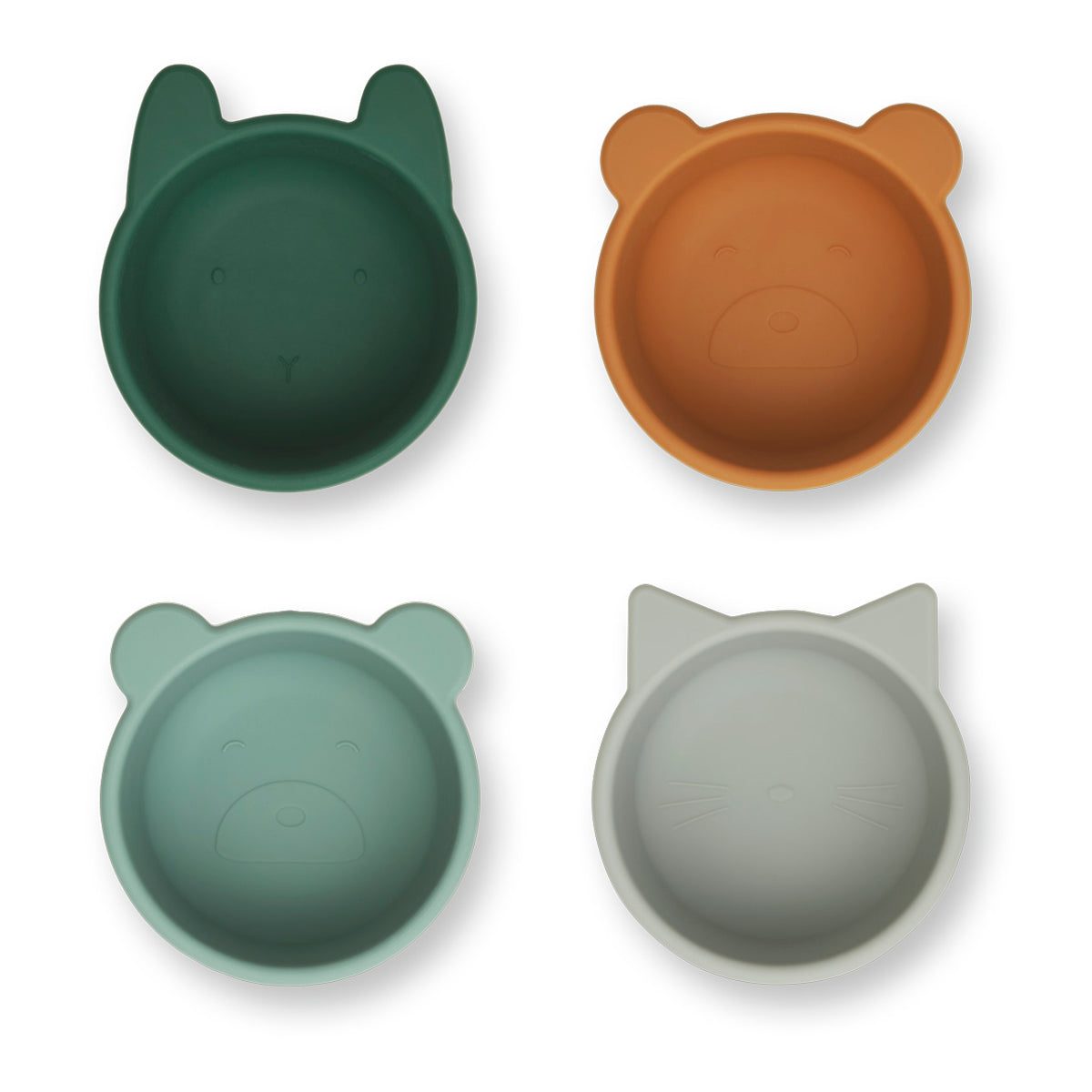 Liewood Malene Silicone Bowl 4 Pack - Green multi mix