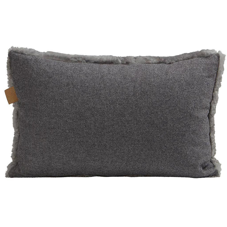 shepherds of sweeden sheepskin pillow grey