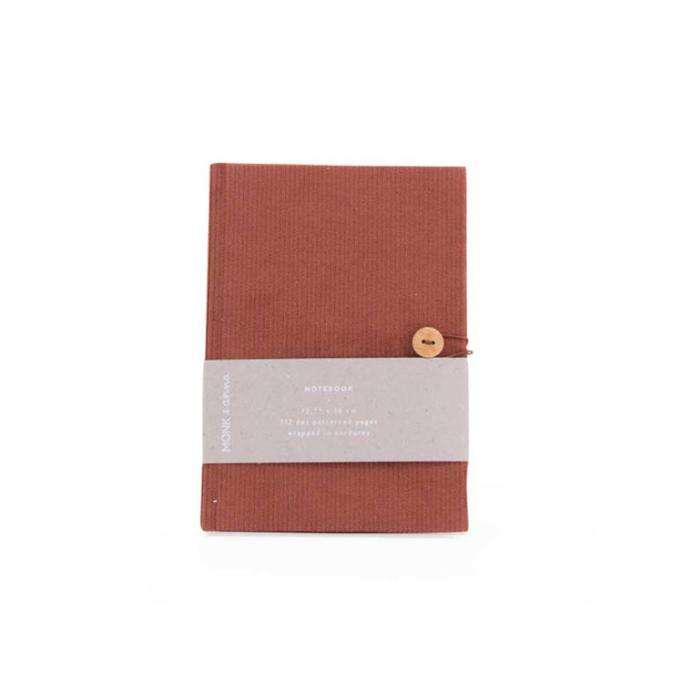 Notebook in Corduroy Brick Red
