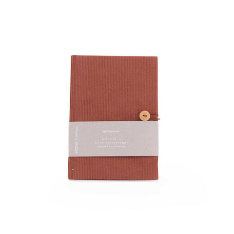 Notebook in Corduroy Brick Red by Monk and Anna