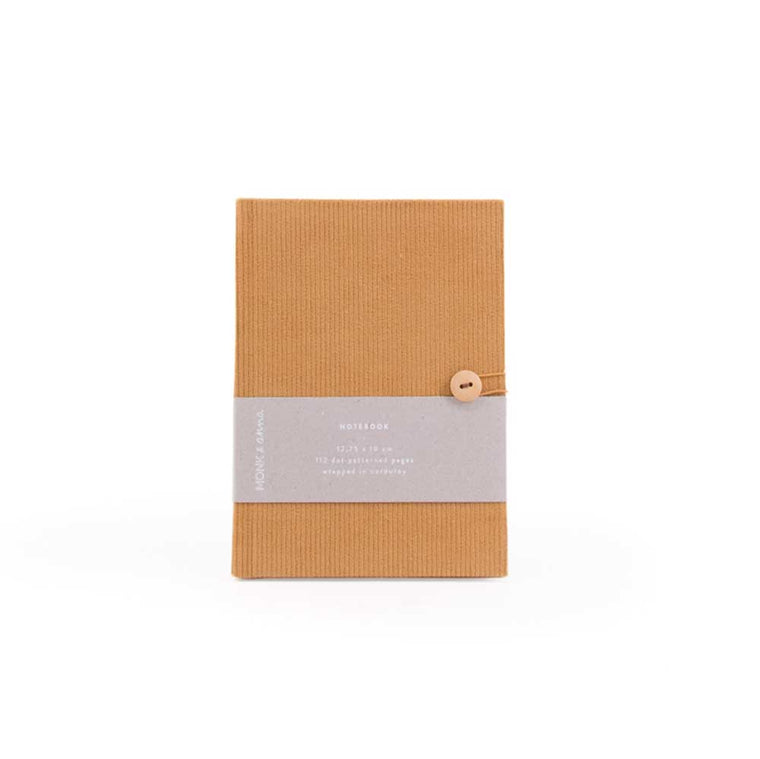Notebook in Corduroy Caramel Fudge