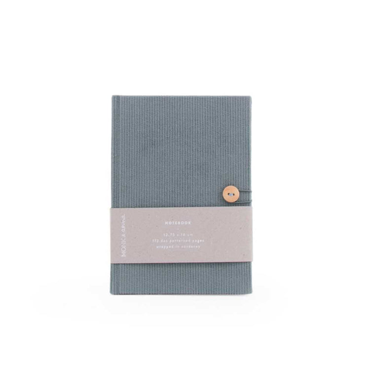 Notebook in Corduroy Dusty Green