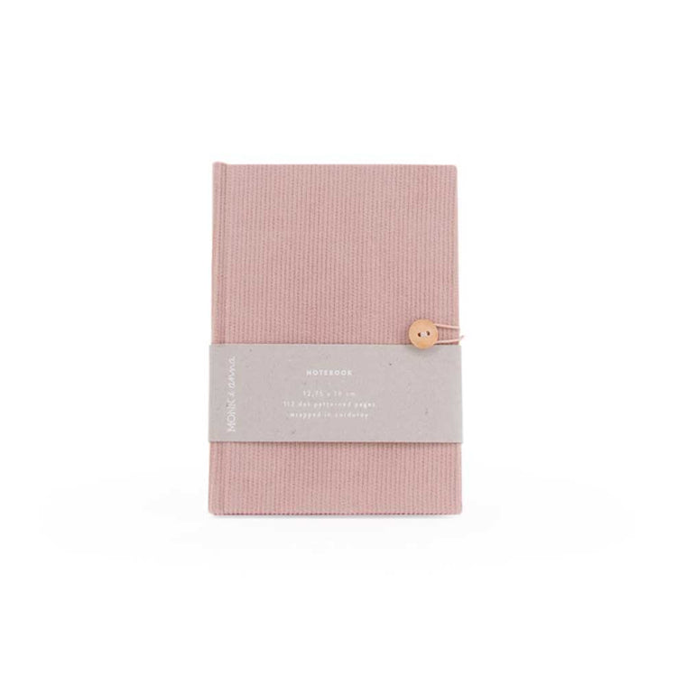 Notebook in Corduroy Soft Pink