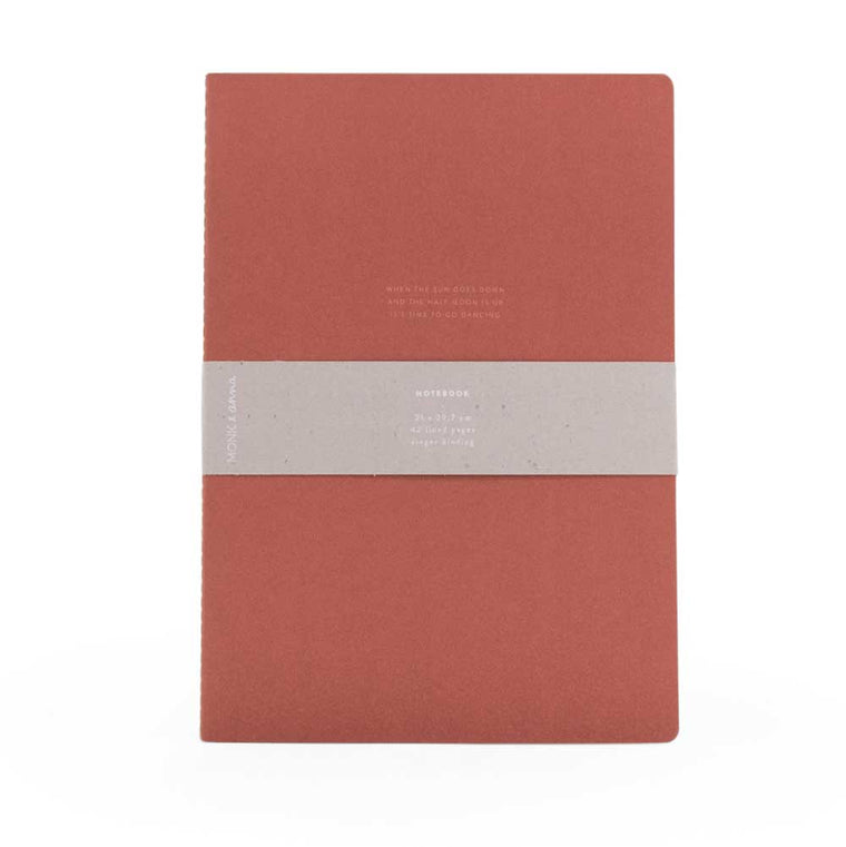 Notebook XL Quote Brick Red