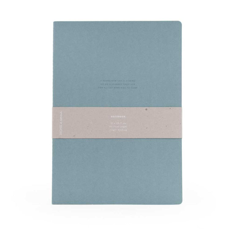 Notebook XL Quote Dusty Green