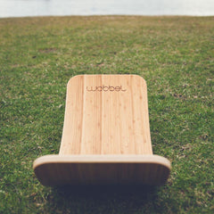 bamboo wobbel board waldorf toys on grass