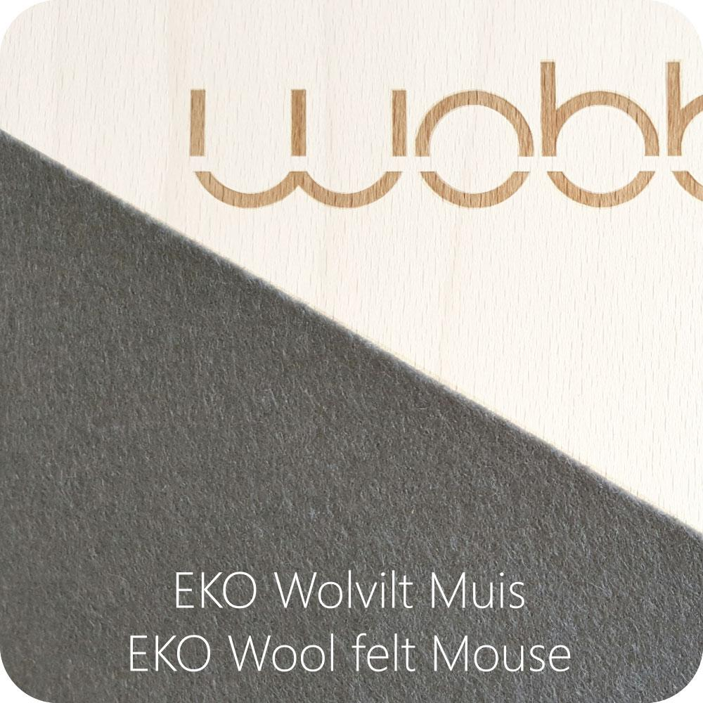 wobbel board grey mouse felt