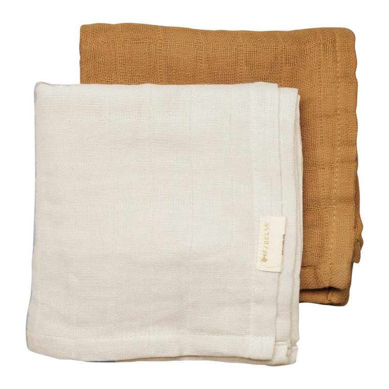 Muslin Cloth 2 pack Fawn