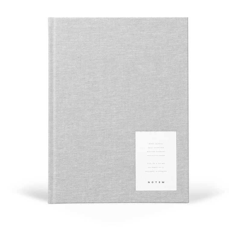 Even Work Journal, Large - Light Grey