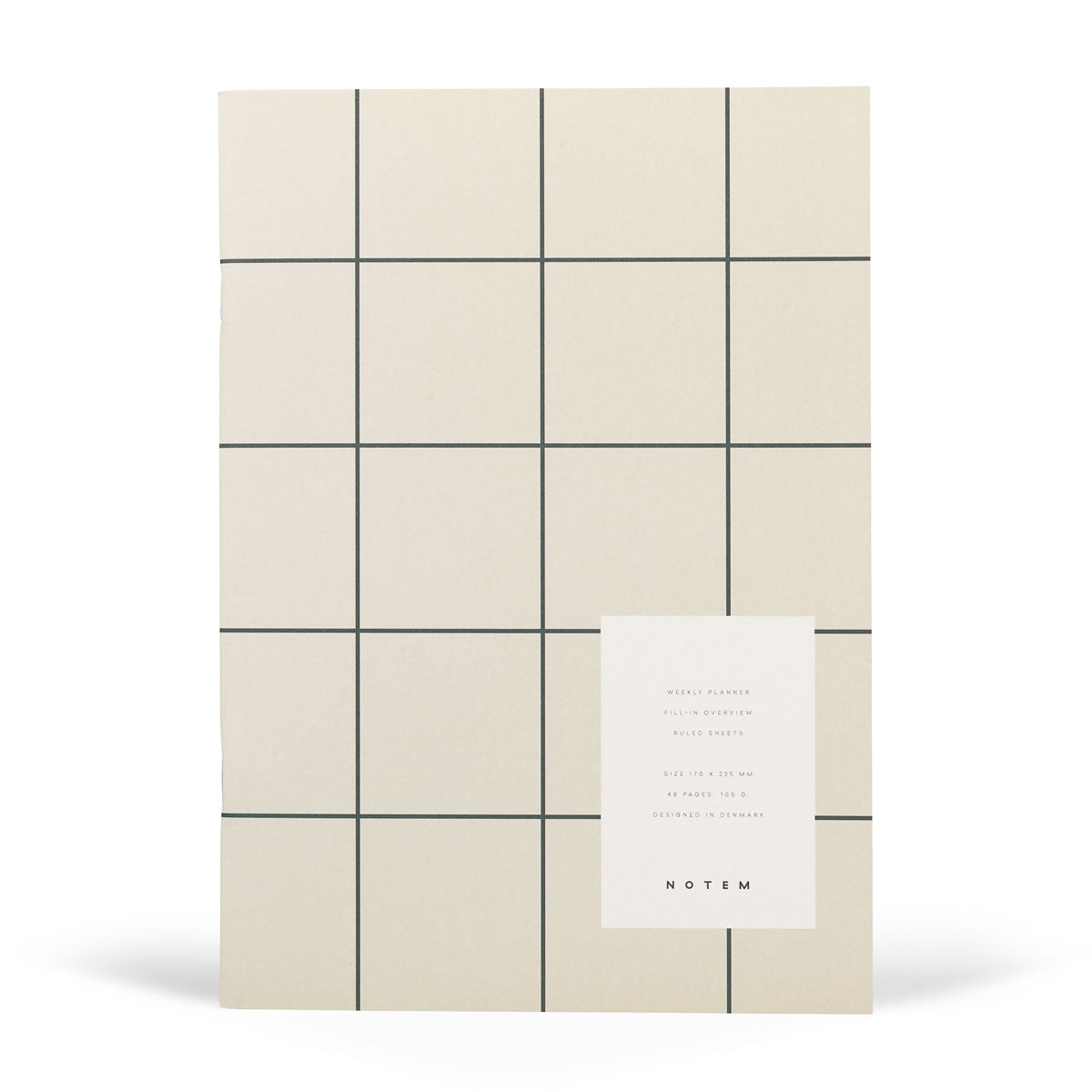 NOTEM MILO Weekly Planner Book - Light Grey