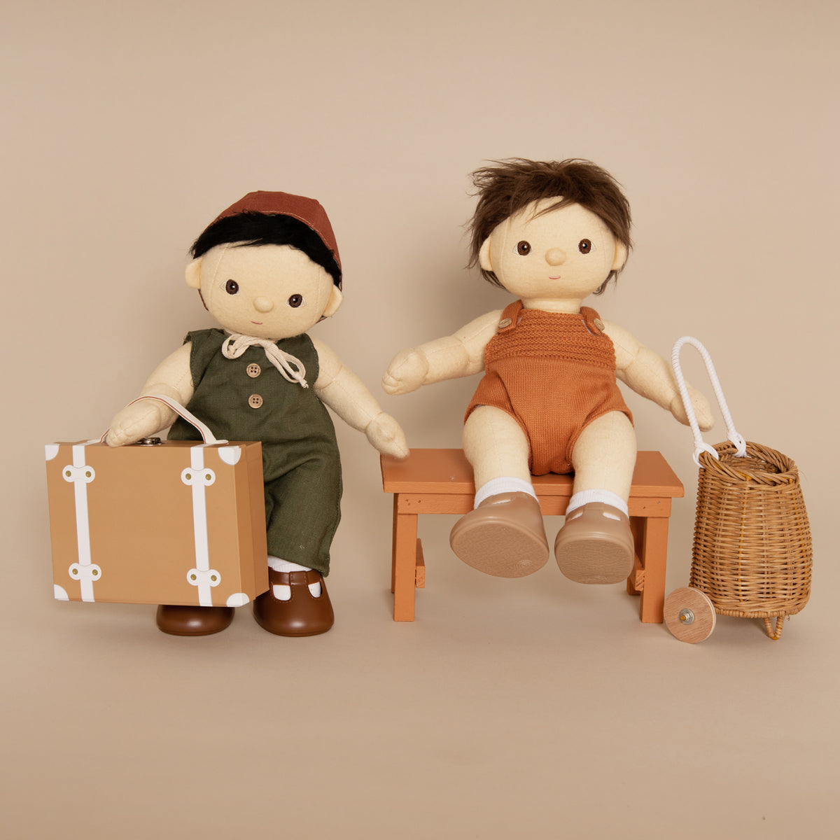 Olli Ella Dinkum Dolls Single Romper - Rust