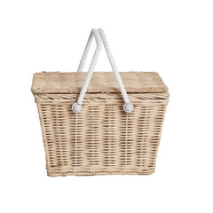 Piki Basket Straw picnic basket childs basket olli ella