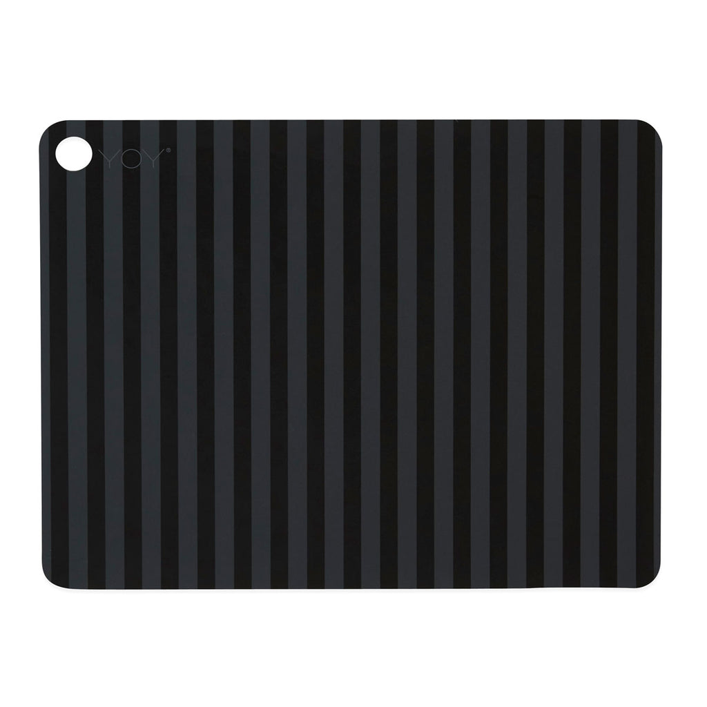 Placemat Stripe - 2 Pcs/Pack - Anthracite OYOY Living design silicone