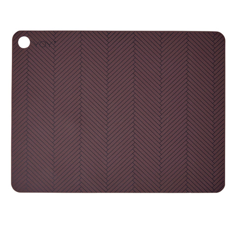 Placemat Herringbone 2 Pcs/Pack Bordeaux OYOY Living design silicone