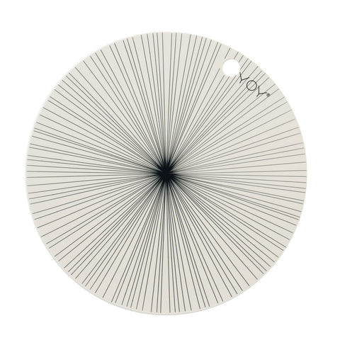 Placemat Ray - 2 Pcs/Pack - Offwhite OYOY Living design silicone