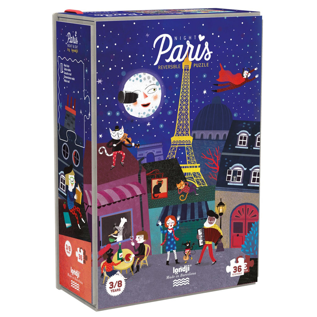 night and day in Paris jigsaw by Londji 3-8 years