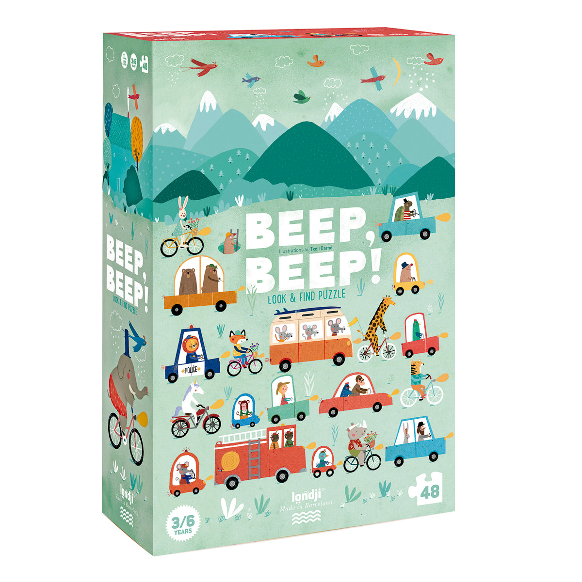Londji Beep Beep Puzzle look and find jigsaw 3 - 8 years