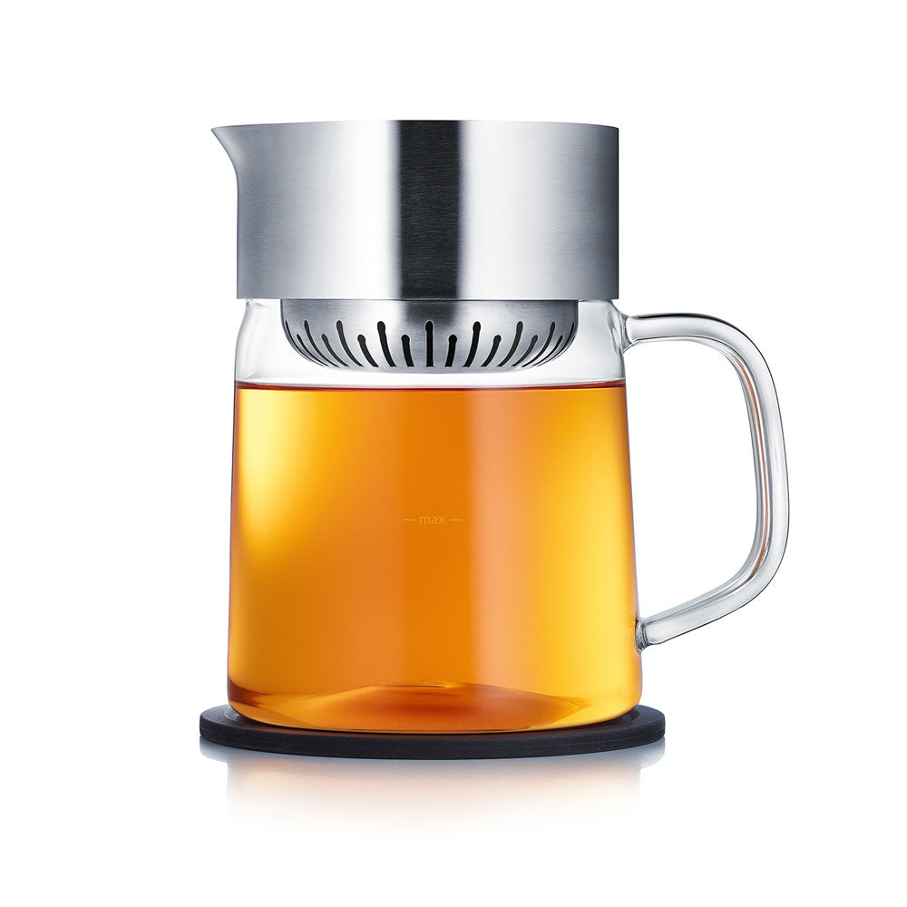 Glass teapot loose leaf infuser teapot with strainer Blomus Tea Jane