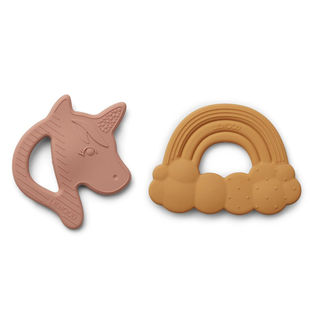 Liewood Unicorn silicone teether - 2 pack