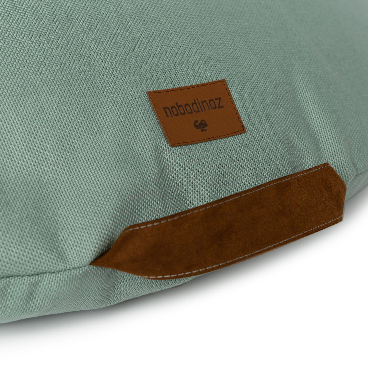 Nobodinoz Sahara floor cushion • Eden Green