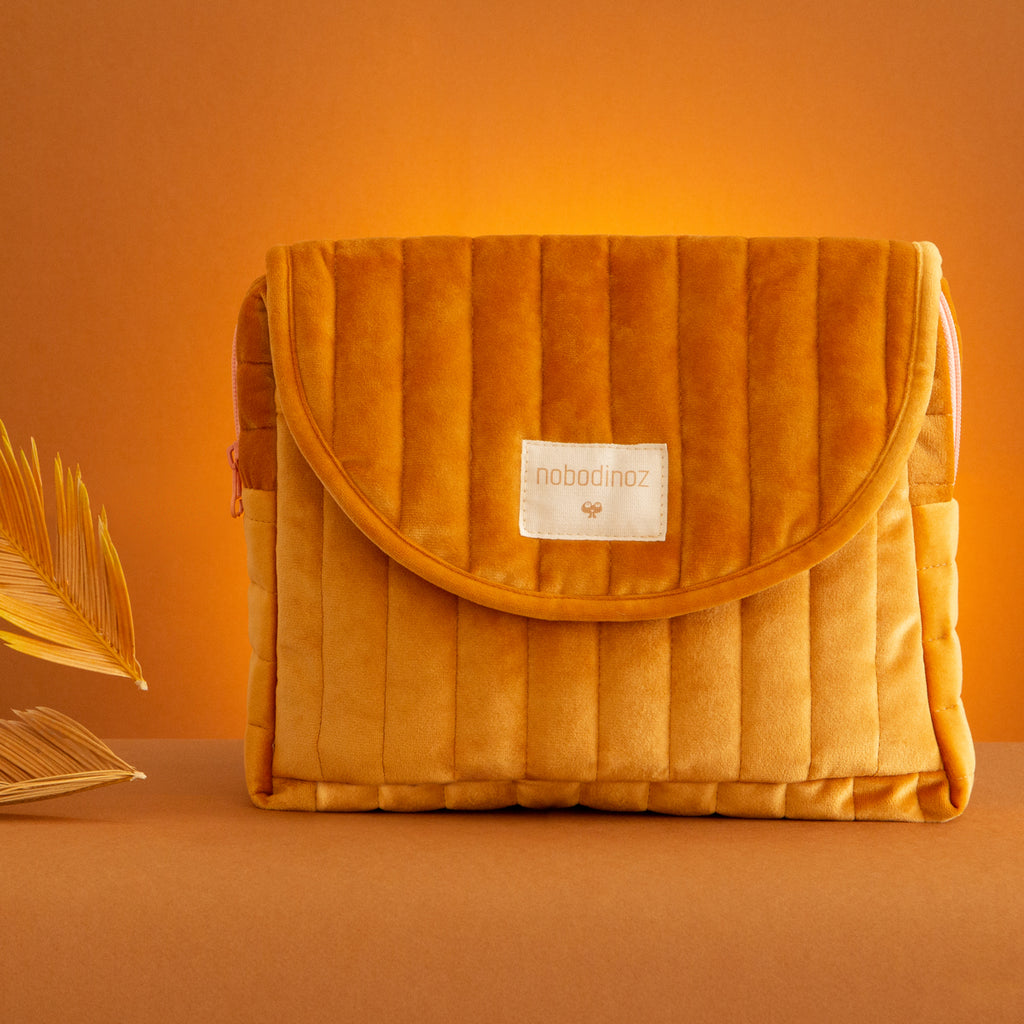 Nobodinoz Savanna maternity case • velvet farniente yellow