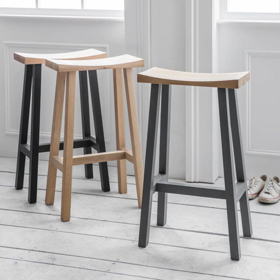 Tall Clockhouse Stool - Raw Oak
