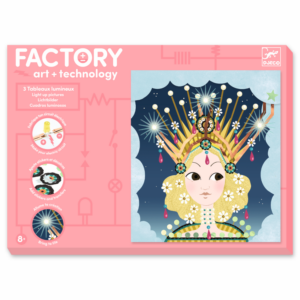 Djeco Factory technology and craft Light Up Pictures - Tiaras