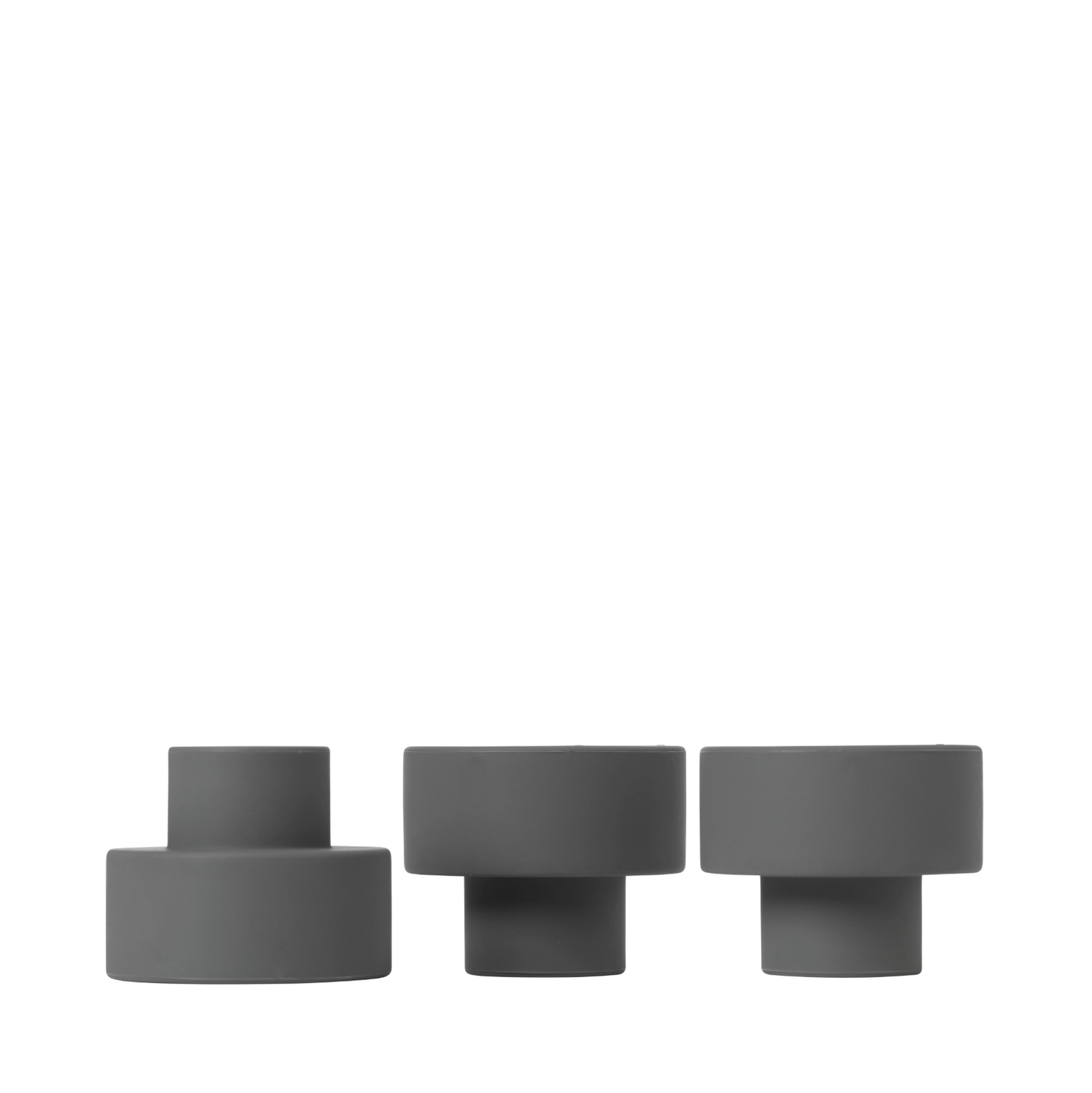 Trio candle holder gunmetal