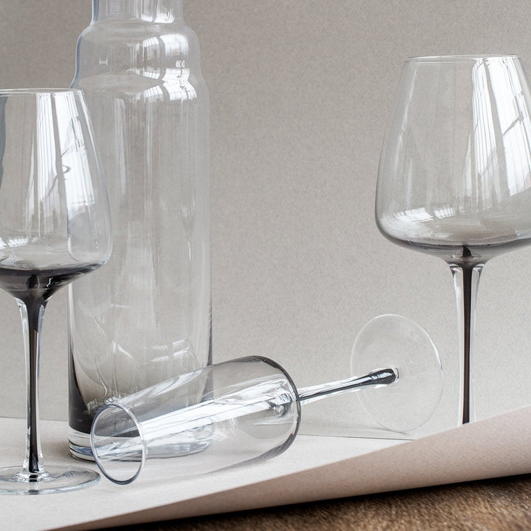 Smoke Wine Glass x 4