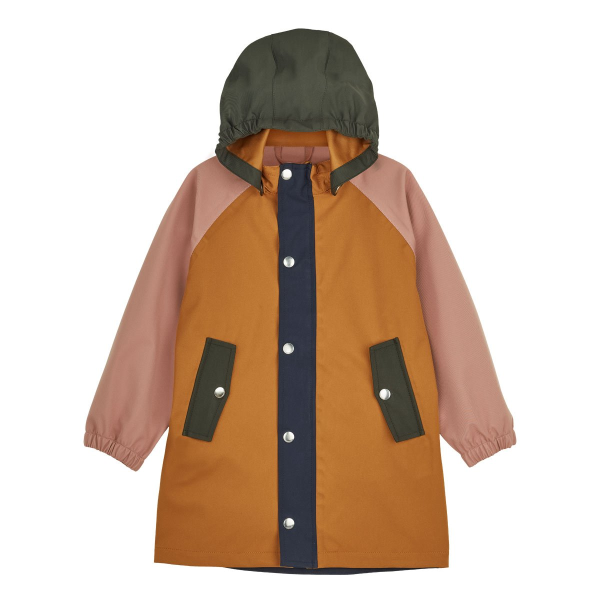 Spencer Long Raincoat - Junior - Dark rose multi mix