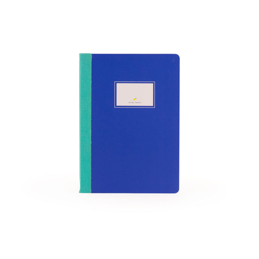Sticky lemon blue hardback notebook