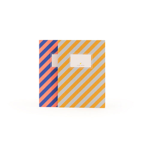 striped notebook from sticky lemon stitched edge
