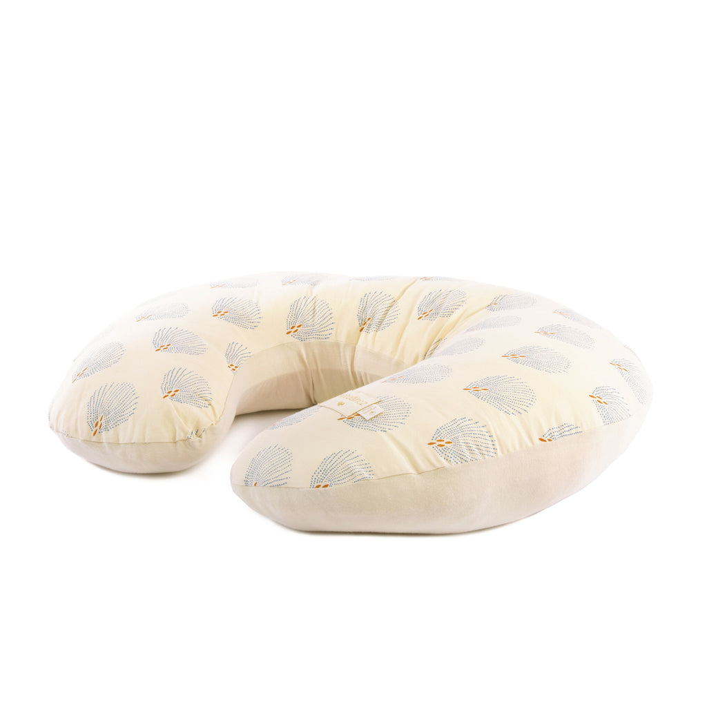 Nobodinoz Nursing pillow Sunrise • blue gatsby cream