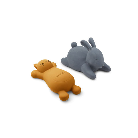 Liewood Vikky Bath Toys 2 Pack - Cat mustard