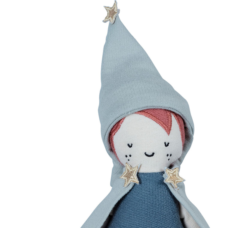 Wizard knitted doll from Fabelab