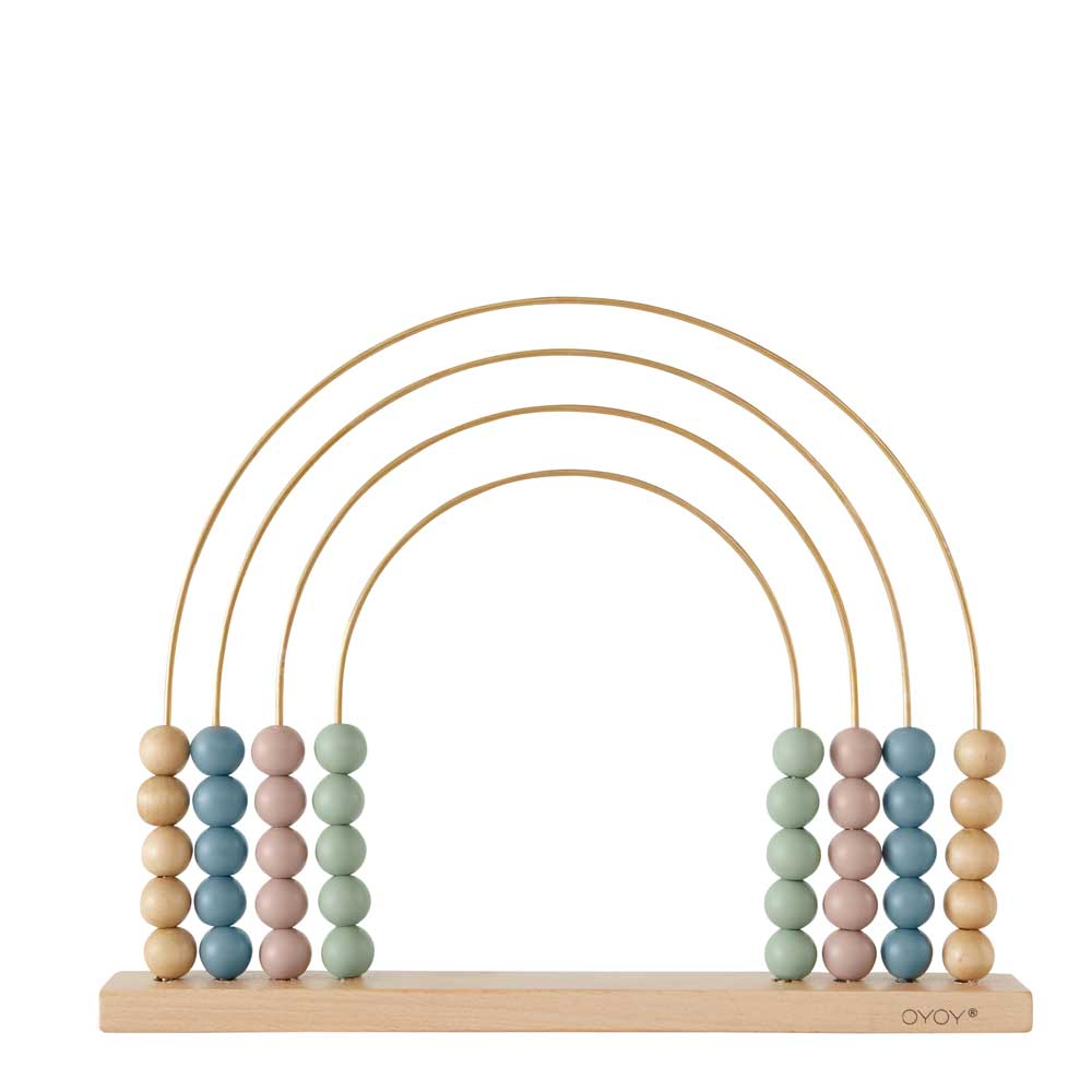 Abacus Rainbow by Oyoy living design in pretty pastel colours rainbow