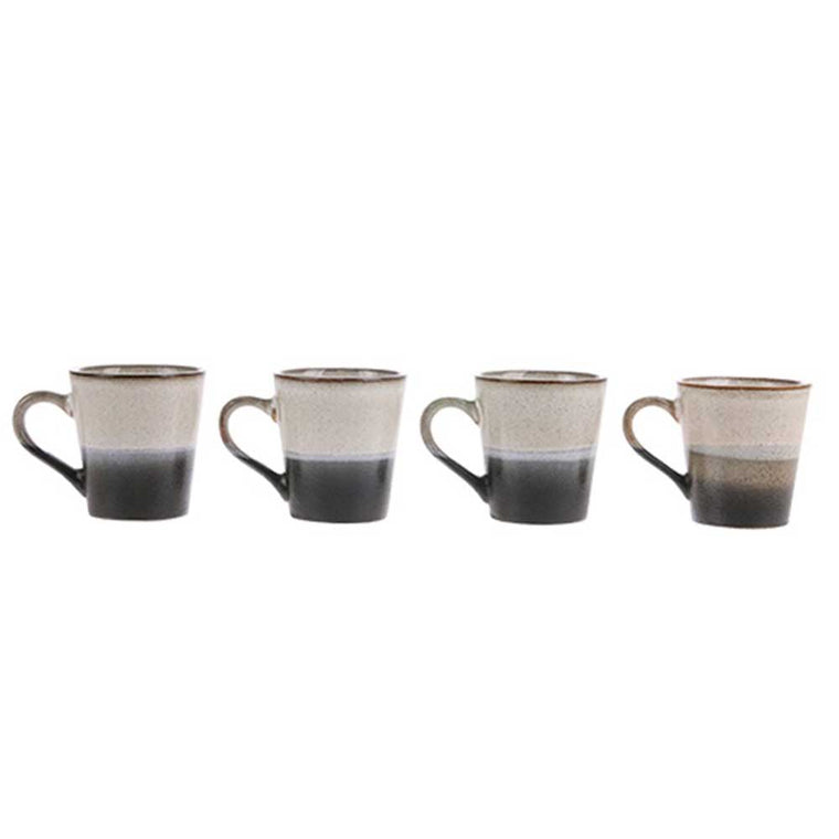 HK Living ceramic 70's espresso mug: rock ACE6050