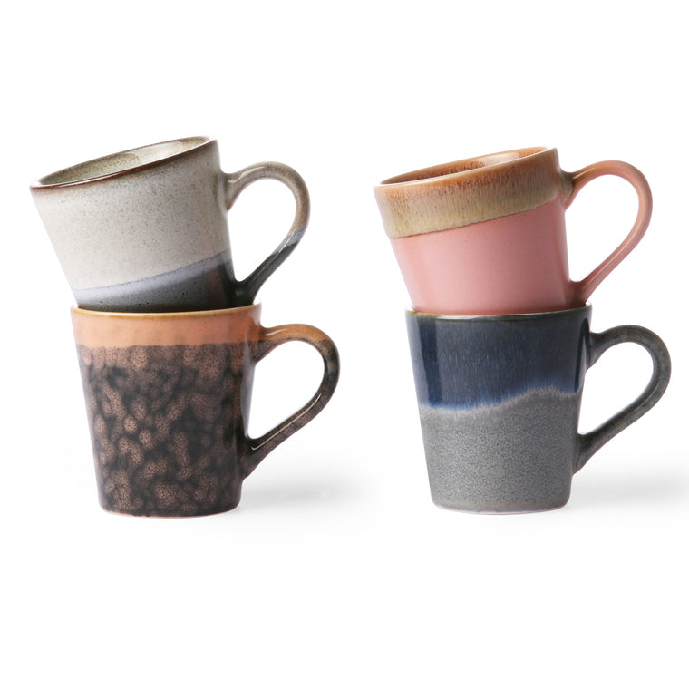 Ceramic 70s espresso mugs set of four 2019