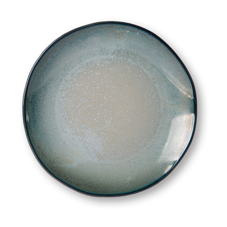 home chef ceramics: dinner plate grey/green
