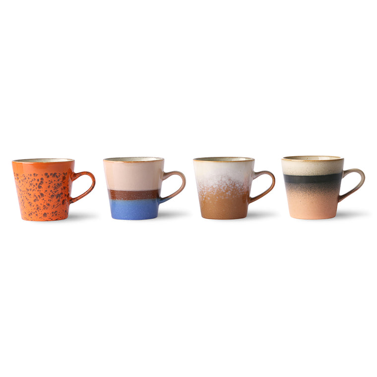 70s ceramics: americano mugs (set of 4) 2021