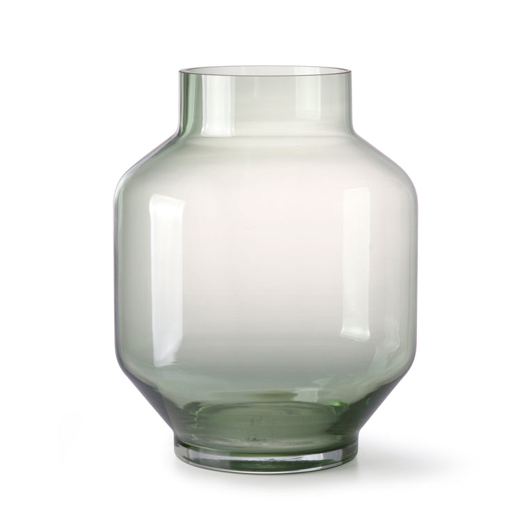 green glass vase l