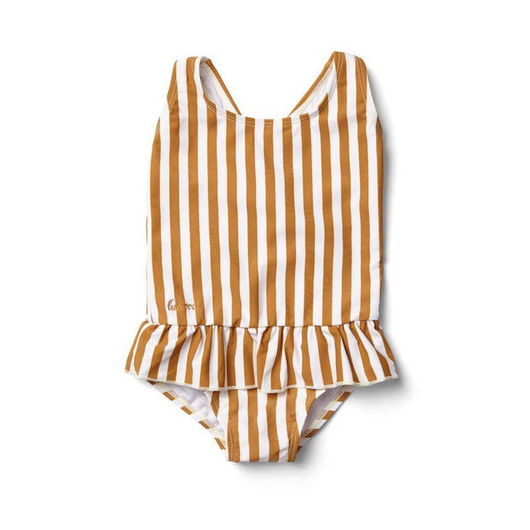 Amara Swimsuit mustard stripe