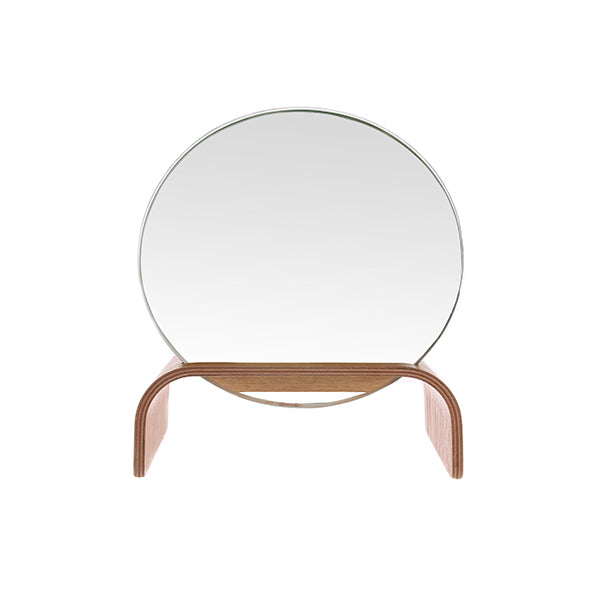 willow wooden mirror stand