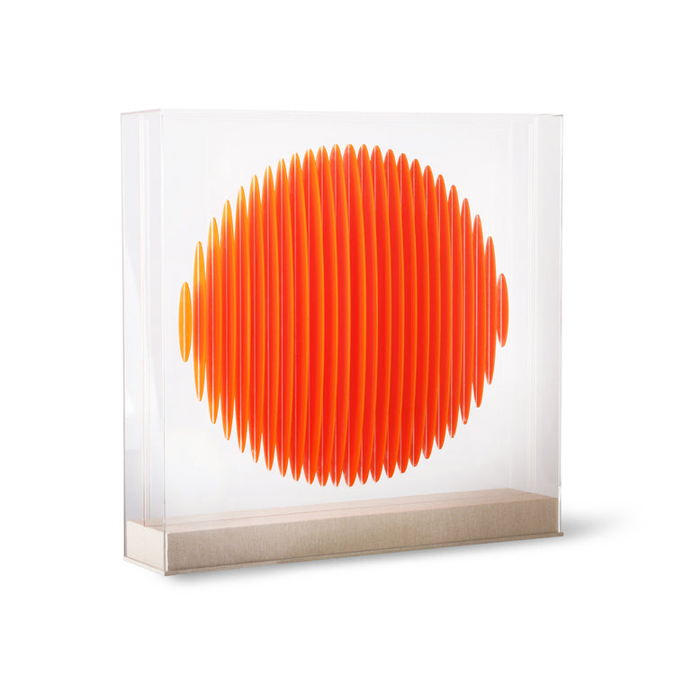 orange circle art frame