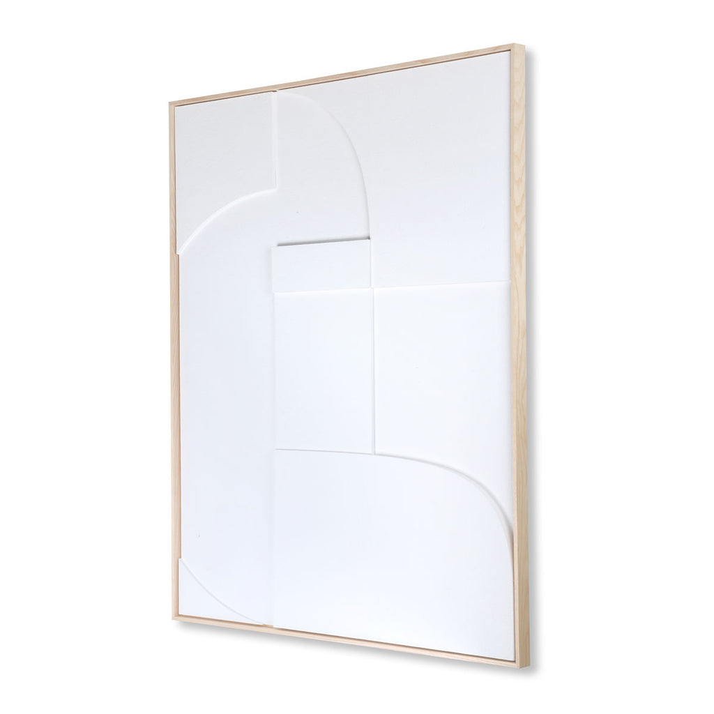 HK Living framed relief art panel white a extra large