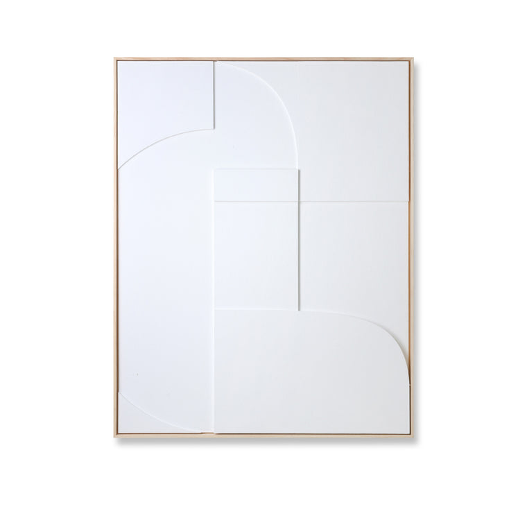 framed relief art panel white a (60x80)