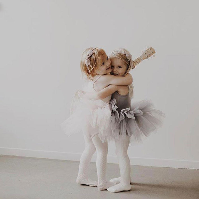 I love plum nyc tutus in grey and white two little girls