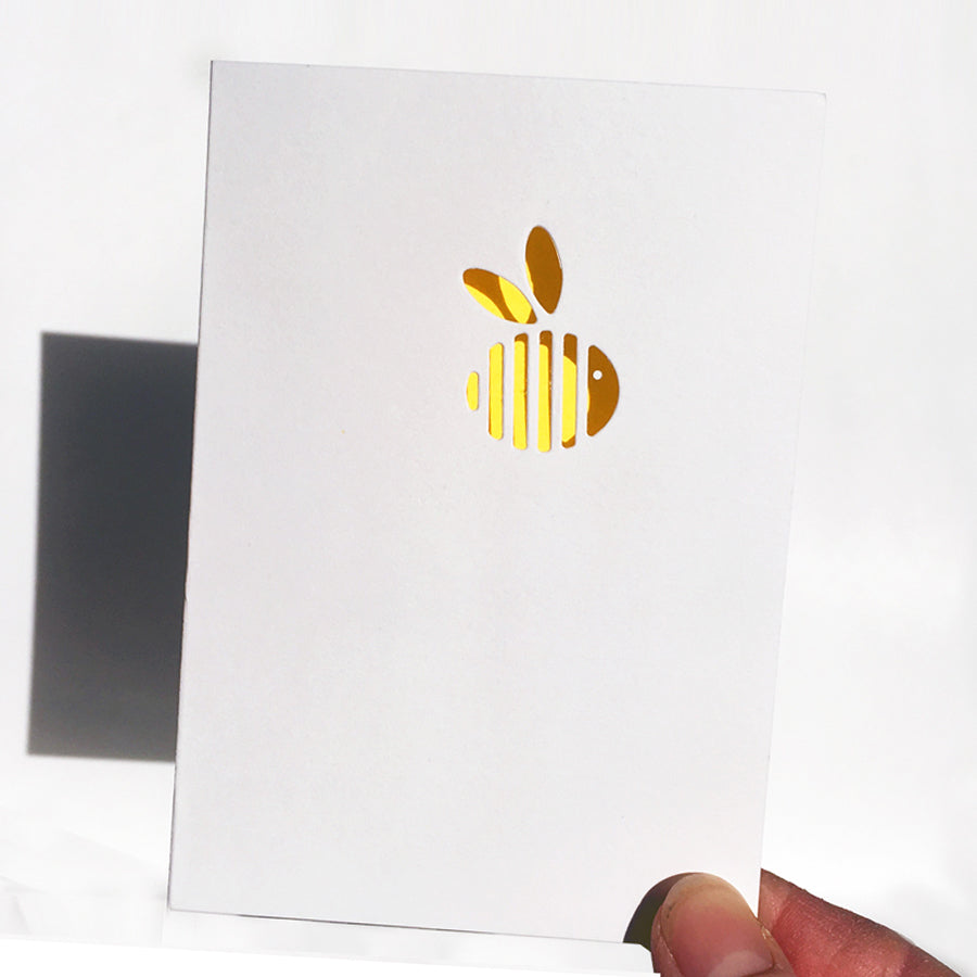 Manchester Bee Cut&make die cut greetings cards handmade in Berlin