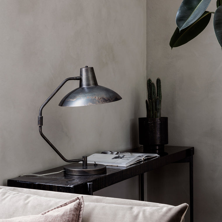 Table lamp, Desk, Antique brown scandi interiors from house doctor