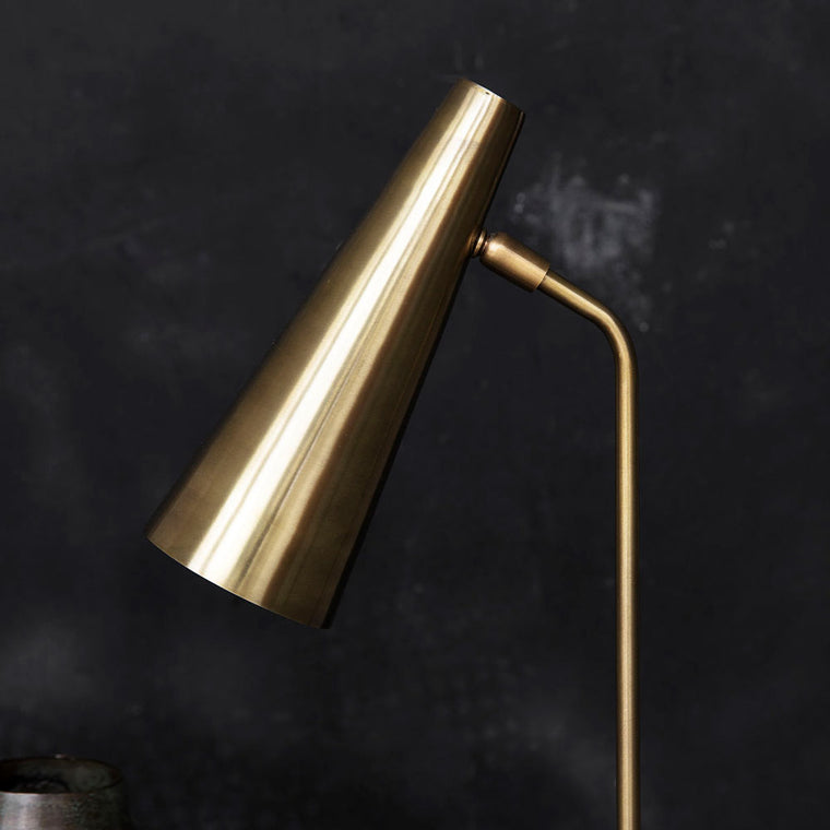 Table lamp, Precise, Brass finish